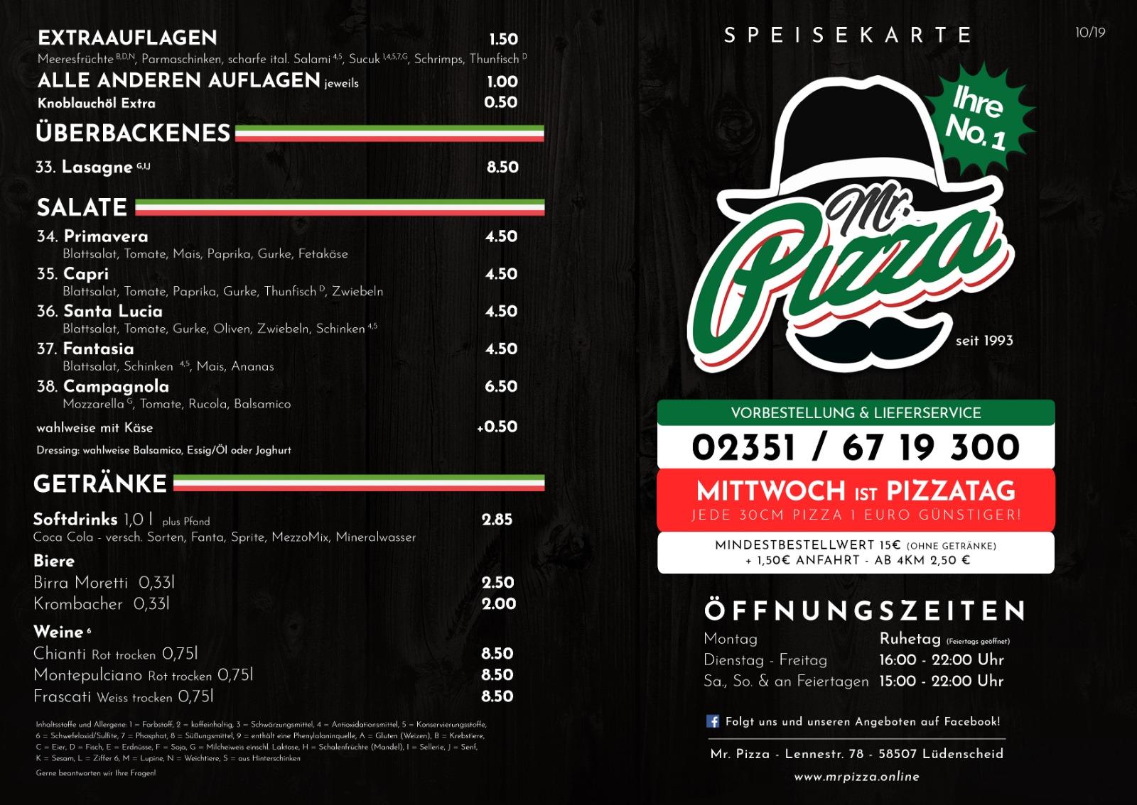 Mr pizza lüdenscheid